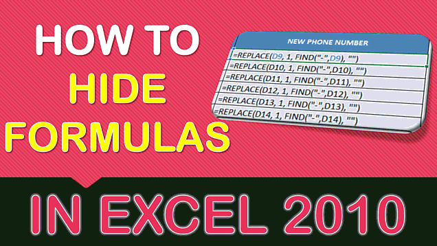 How to Show & Hide Formulas in Excel
