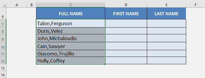 Excel Extract First Name From Full Name | MyExcelOnline