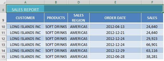 merge cells in Excel