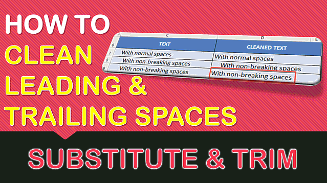 How to Remove Leading and Trailing Spaces in Excel