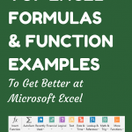 101 Excel Formulas & Functions Examples
