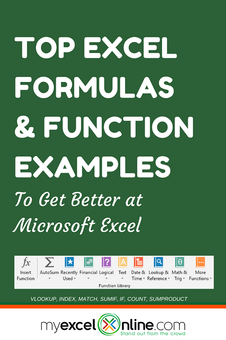 101 Advanced Excel Formulas & Functions Examples | MyExcelOnline