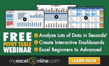 Free Microsoft Excel Webinars