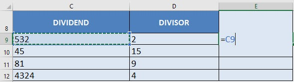 How to Divide in Excel with the Division Formula