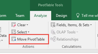 Move a Pivot Table