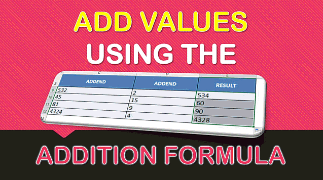 Addition Formula in Excel