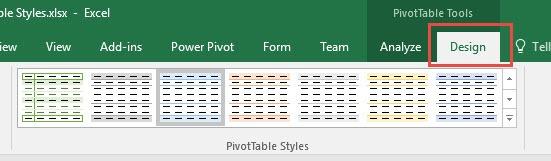 Pivot Table Styles | MyExcelOnline
