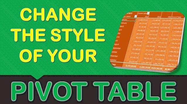 Pivot Table Styles