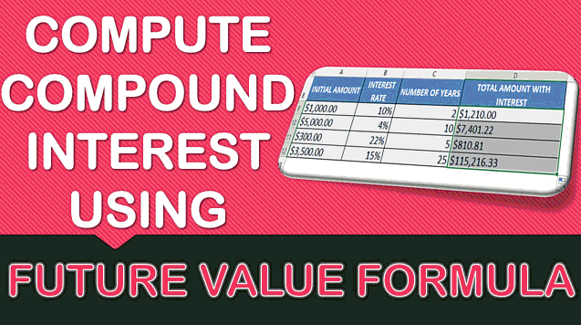 Calculate the Compound Interest with Excel's FV Formula