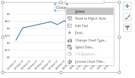 Stock Line Chart in Excel