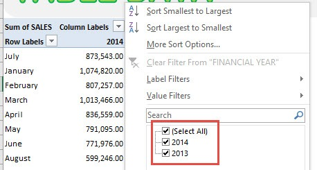 clear pivot table cache