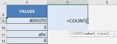 Count Formula in Excel | MyExcelOnline