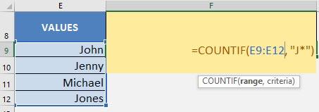 CountIf Formula