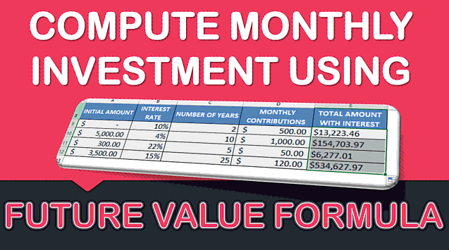 Calculate your Monthly Investment with Excel's FV Formula