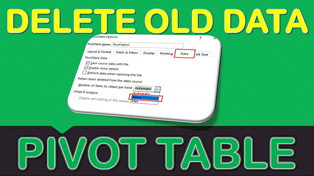 Clear & Delete Old Pivot Table Items