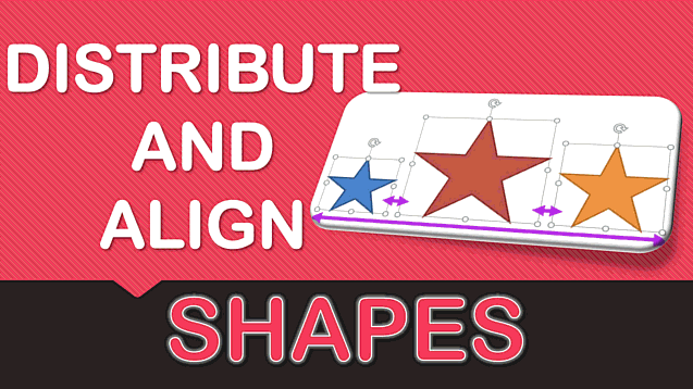 Distribute and Align Shapes in Excel