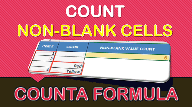 CountA Formula in Excel