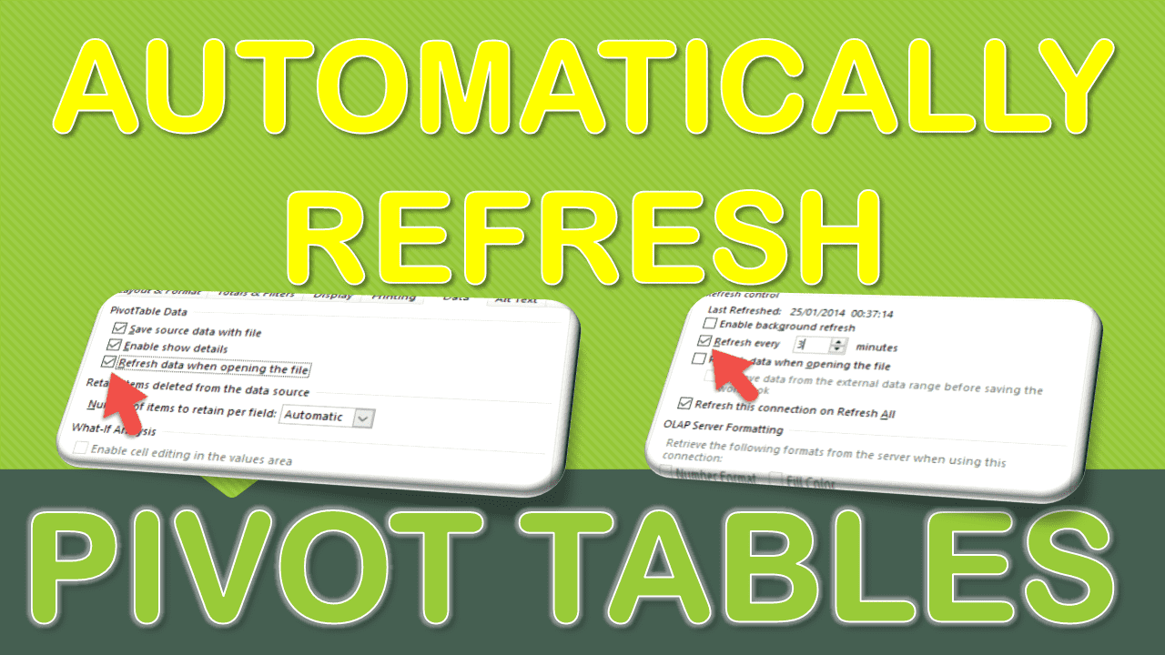 Automatically Refresh a Pivot Table | Free Microsoft Excel