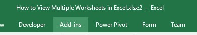 How to View Multiple Worksheets in Excel