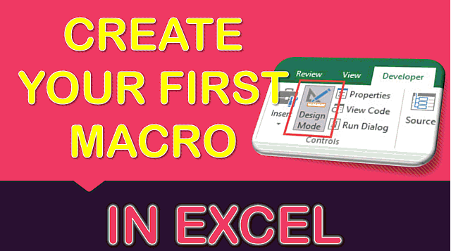 How to Create Your First Macro Button in Excel – Beginners Tutorial