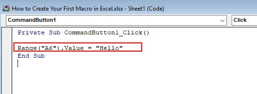 How to Create Your First Macro Button in Excel - Beginners Tutorial