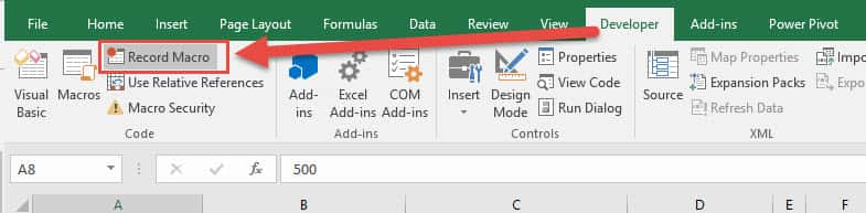 how to develop macros in excel