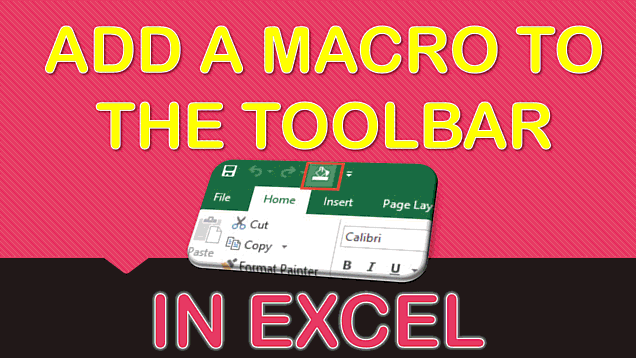 How to Add a Macro to the Quick Access Toolbar Ribbon in Excel