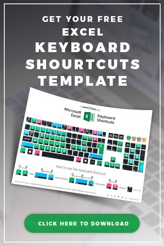 Free Excel Keyboard Shortcuts Template