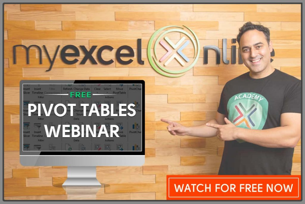 Free Excel Pivot Table Online Training Course