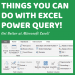 50 Things You Can Do With Excel Power Query