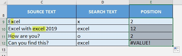 FIND Formula in Excel