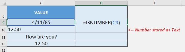 ISNUMBER Formula in Excel