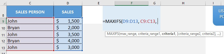 New Formulas in Excel 2019: CONCAT, IFS, MAXIFS, MINIFS, SWITCH and TEXTJOIN!
