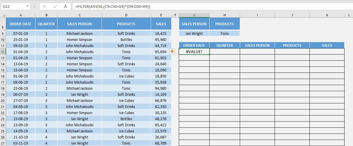 Excel FILTER Formula   MyExcelOnline