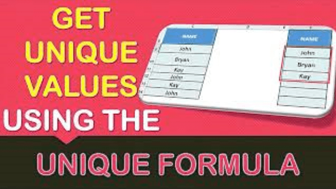 UNIQUE Formula in Excel