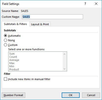 Show Field and Value Field Settings in Power Query