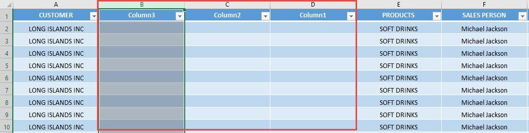 Insert Multiple Columns using Macros