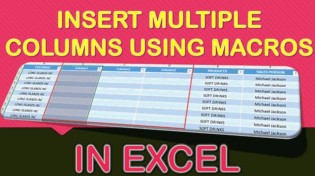 How to Insert Multiple Columns Using Macros in Excel