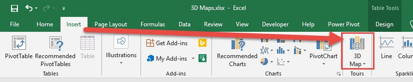 3D Map in Excel