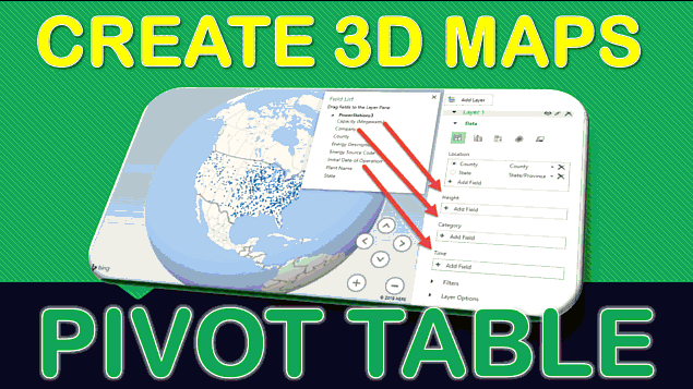 3D Maps In Microsoft Excel