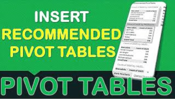 Recommended Pivot Tables in Excel