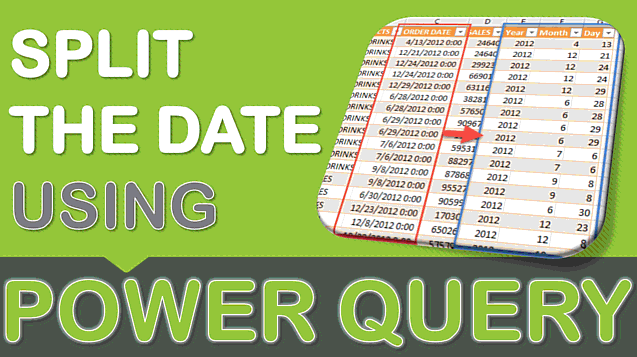 Split the Date Using Power Query or Get & Transform