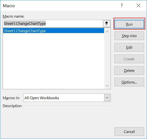 Change Chart Type Using Macros In Excel | MyExcelOnline