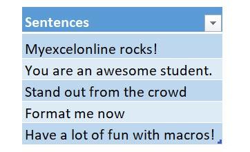Convert Text into Speech Using Macros In Excel | MyExcelOnline