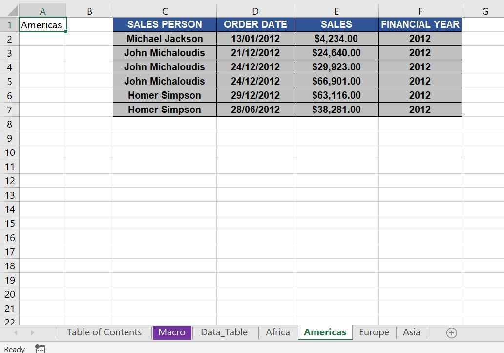 Create a Table of Contents Using Macros In Excel | MyExcelOnline