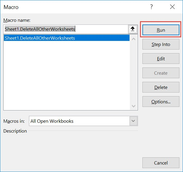 Delete All Other Worksheets Using Macros In Excel | MyExcelOnline