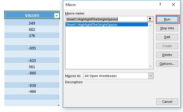 Highlight Cells with a Single Space Using Macros In Excel | MyExcelOnline