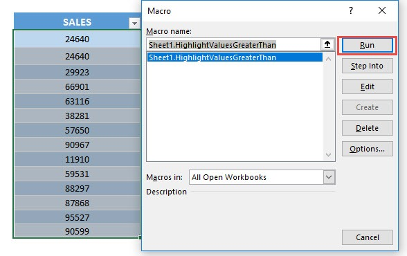 Highlight Values Greater Than Using Macros In Excel | MyExcelOnline
