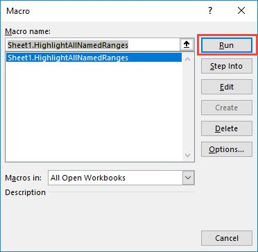 Highlight all Named Ranges Using Macros In Excel | MyExcelOnline