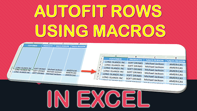 How to Autofit Rows Using Macros in Excel